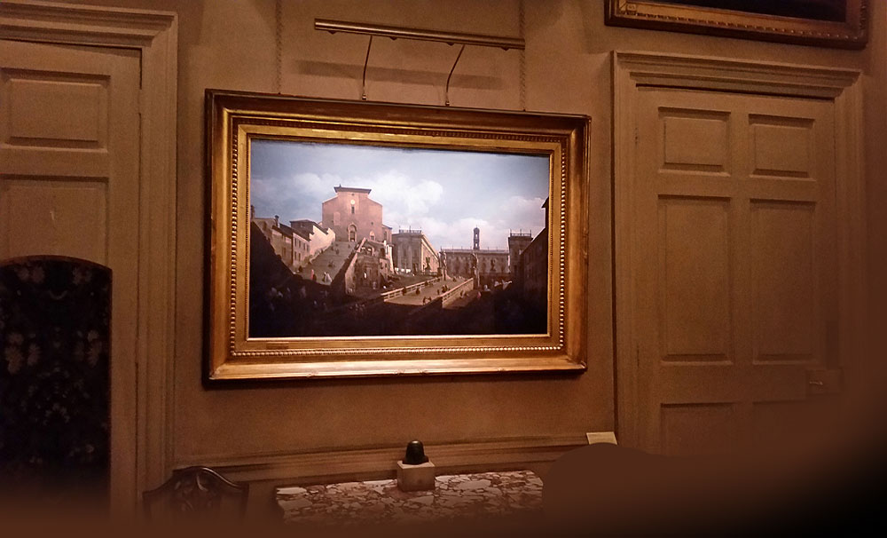 bellotto oil painting of Rome - picture light by Hogarth