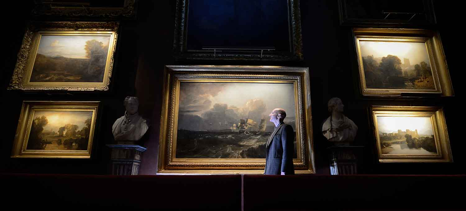 Hogarth Petworth Picture Lights On Turner Paintings At House